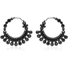 GIVENCHY Swarovski Hoop Earrings ($760) ❤ liked on Polyvore
