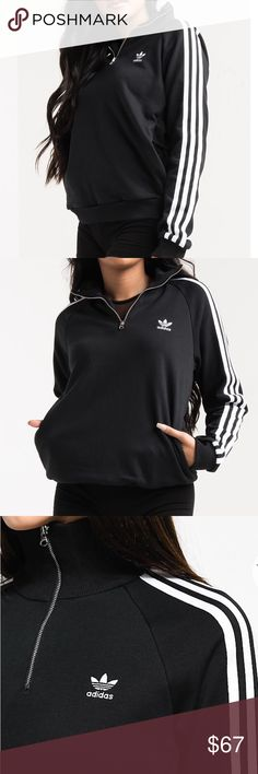 Adidas Originals Mock Neck Sweater Sweatshirt Brand new without tags! Size XS. Has 1/4 zip and zippered pockets! adidas Sweaters