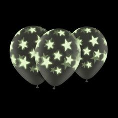 Add some fun to your party with these glow in the dark balloons ! Very versatile, Star Wars theme, space theme, even could be used with my balloon sticks to go trick or treating !. :::::::::::::::::::::::::::::::::::::::::::::::::::::::::::::::::::::::: ☆ The Design: These 11 Qualatex diamond clear Glow Stars-A-Round latex balloon are great for decorating evening events as the stars glow in the dark! Sure to be eye catching and interesting to everybody at the event! Supplied in bags of 6...