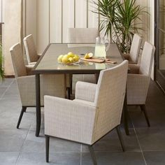 Hampton Bay Model # FCS80233-ST Internet # 205364027 Store SKU # 1001386239 Aria 7-Piece Patio Dining Set  3.9 out of 5 (12)  Write a Review Questions & Answers (9)  Hampton Bay Aria 7-Piece Patio Dining Set $799.00 /set