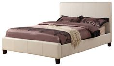 Modus Mambo Upholstered Platform Bed in Ivory Coloring - California King - traditional - Beds - Beyond Stores