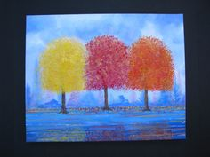 An Autumn Morning 16 x 20 Impressionistic by StaceyZimmermanArt, $125.00