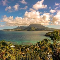 """The view of Nevis from Saint Kitts is basically Paradise looking in a mirror. #TLPicks courtesy of @wanderlustersuk."""