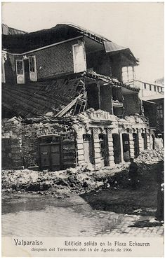TERREMOTO VALPARAISO EARTHQUAKE 1906, POSTALES CHILE PPC POSTCARDS Postcards, Retro, Vintage Posters, Past Tense, Cards, Rustic