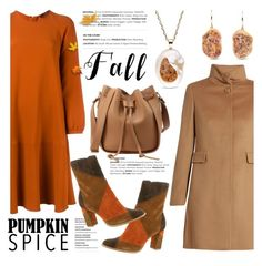 """""""Pumpkin Spice Style"""" by littlehjewelry ❤ liked on Polyvore featuring Odeeh, MaxMara, Matisse, contestentry, pss, pearljewelry and littlehjewelry"""