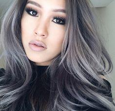 Dark blueish grey hair