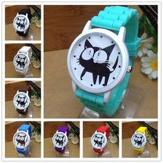 Cute Cartoon Cat Quartz Watch