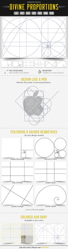 6 vectorized sacred geometries