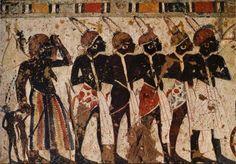 Tribute bearers, perhaps Nubian, the Great Temple, Abu Simbel, Egypt.   mathildasanthropologyblog.wordpress.com