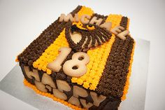 Cake Order- Hawthorn Footy Cake for 18th Birthday #Hawks For more info www.flamingpot.com