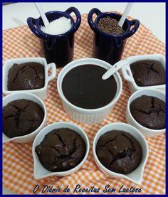 O Diário de Receitas Sem Lactose: Brownie de Chocolate e Amêndoas Sem Glúten Sem Lactose