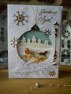 Deuxième série de cartes de vœux par Athéna Holiday Cards, Christmas Cards, Jingle All The Way, Mix Media, Stampin Up Cards, Blog, Santa, Invitations, Frame