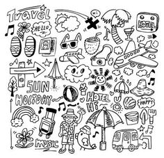 doodle travel stock photo you doodle, doodle . Foto Doodle, Doodle On Photo, Doodle Doodle, Notebook Doodles, Doodle Art Journals, 365 Kawaii, Banner Doodle, Travel Outfit Spring, Travel Doodles