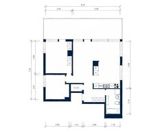 Apartments, Contemporary White Top Floor Of Apartment Interior Design In Stockholm: Contemporary Apartment Floor Layout Plan