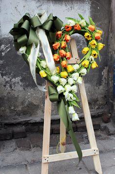 Funeral Flower Arrangements, Funeral Flowers, Floral Arrangements, Sympathy Flowers, Heart Shapes, Floral Wreath, Wreaths, Design, Flower Arrangements
