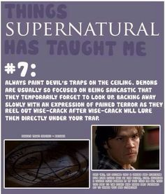 things supernatural has taught me