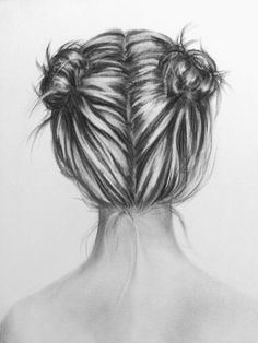 Chignons by Megan Flynn. #hair #artist #drawing