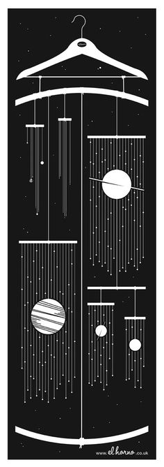 This print features the major planetary bodies of our solar system including: 1 x Sun*, 4 x Inner planets*, 4 x Outer planets*, 3 x Dwarf planets**, 173 x moons** via Richard Horne (elhorno.co.uk)    * - Relatively sized  ** - Subject to Change