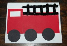 Firefighter truck card - might work as invitations for J's party