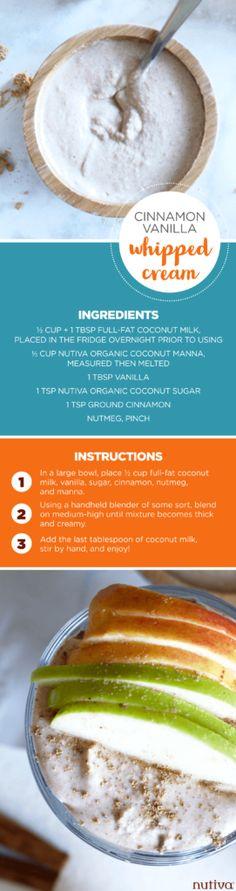 Apple Pie Chia Pudding kitchen.nutiva.com Cinnamon Vanilla Whipped Cream Vegan
