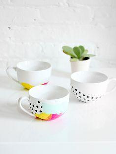 DIY | Tissue Paper Watercolor Mug