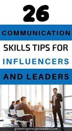 As a leading figure you are expected to have mastery of certain communication skills. In order to master them you may take some time, but knowing from the get go the key communication skills for leaders and influencers might just be the difference between embarrassing yourself in front of others and dazzling any audience that you may come across. Check out our 26 tips and guidance on how to improve your communication skills.  #leaderscommunication #communicationskills #influencerscommunication