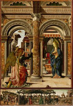DEL COSSA - Retable Annonciation et Naissance de Jésus - 1472 - Gemalde Dresden