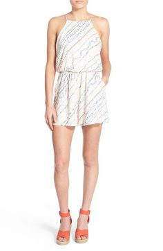 Lush Print High Neck Romper available at #Nordstrom