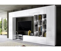 Tecnos wall unit pcs) Order now at: moebel. Living Room Tv Unit, Living Room Cabinets, Interior Design Living Room, Living Room Decor, Living Rooms, Kitchen Interior, Wall Entertainment Center, Muebles Living, Tv Wall Design