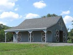 Home ›› Horse Barns ›› Lean to Overhang