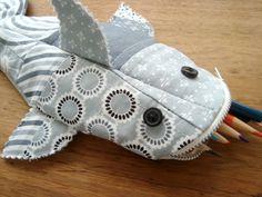 Trousse requin, patron et tuto