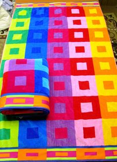 Fun fashion accessories for the frugal Beach Bum, Beach Towel, Picnic Blanket, Outdoor Blanket, Lite Brite, Color Me Beautiful, Bury, Rainbow Colors, All The Colors