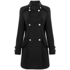 Yoins Yoins Classic Trench Coat ($59) ❤ liked on Polyvore featuring outerwear, coats, jackets, yoins, black, coats & jackets, double breasted coat, double-breasted trench coat and trench coat