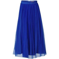 Jolie Moi Tulle Midi Skirt (2.570 RUB) ❤ liked on Polyvore featuring skirts, blue, clearance, gathered skirt, see-through skirts, transparent skirt, mid calf skirts and sheer overlay skirt