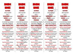 Bookmarks Plus: Maniac Magee edition--A Handy Little Reading Aid! from Word-wise… Six Trait Writing, Maniac Magee, Teacher Notebook, Book Study, Vocabulary Words, Language Arts, Lesson Plans, Bookmarks, The Book