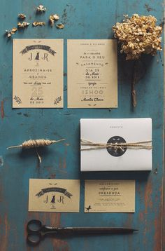Organic colored invites