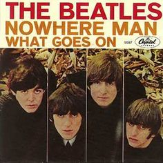 "behindthegrooves: ""On this day in music history: February 1966 - ""Nowhere Man"" by The Beatles is released. Written by John Lennon and Paul McCartney, it is recorded October 21 - 1965 in Studio. Beatles Album Covers, Beatles Albums, John Lennon Paul Mccartney, John Lennon Beatles, Ringo Starr, George Harrison, Liverpool, Beatles Singles, Nowhere Man"
