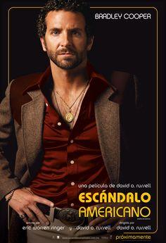 Póster de Bradley Cooper en Escándalo Americano