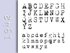 12 more free fonts. Love this old typewriter font