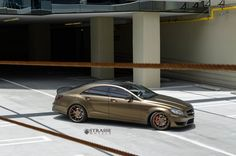 Matte Bond Gold Mercedes-Benz CLS63 AMG With Strasse Wheels