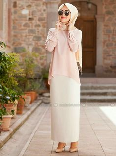 Bleistiftrock – Ecru – Minel Ask – mode Islamic Fashion, Muslim Fashion, Modest Fashion, Hijab Fashion, Hijab Outfit, Hijab Dress, Modest Wear, Modest Dresses, Modest Outfits
