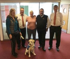 Latest news Lothian Buses staff meet two of their sponsored guide dog puppies