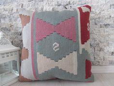 Paypal Accept Kilim Pillow 14x14 Organic Color Decorative Pillow Boho Pillow Kilim Pillow Aztec Pillow 14x14 Kilim Pillow Boho Pillow