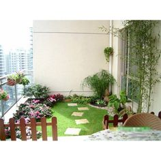 Как сделать газон на балконе
