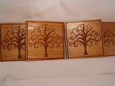 Celtic Tree of Life Coasters by CarveTech on Etsy