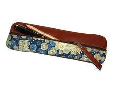 Federtasche Stiftemäppchen JAPANISCH LEDER & STOFF von Henriette Claire auf DaWanda.com