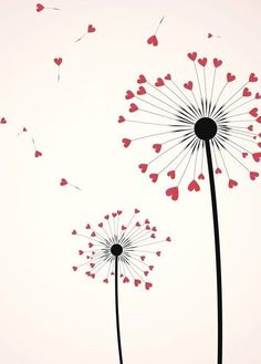 (or use stamped pencil rubber for round dots- dif… Dandelion stamped heart card. (or use stamped pencil rubber for round dots- different colours) Doodle Drawings, Easy Drawings, Crayon Heart, Arts And Crafts, Paper Crafts, Heart Cards, Watercolor Cards, Diy Cards, Homemade Cards