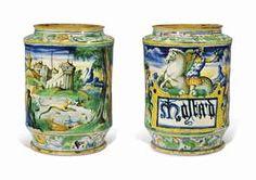 A VENICE MAIOLICA LARGE ISTORIATO STORAGE-JAR CIRCA 1560-70, WORKSHOP OF MAESTRO DOMENEGO DA VENEZIA  Price Realised  GBP 17,500