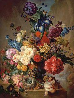 Georgius Jacobus Johannes van Os  Floral Still Life  19th century