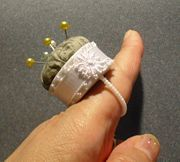 Recyling a bottle capt into a pin cushion ring